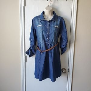 Justice Girl's Chambray Dress